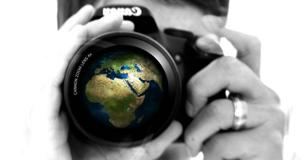 Imagen de un webcam mirando el mundo